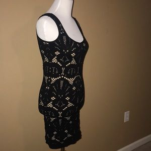 Girls black /tannish spaghetti strap dress